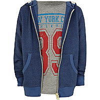 Boys navy hoodie and t-shirt set