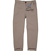Boys grey roll up chinos