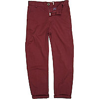 Boys red chinos