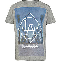 Boys grey LA blue socks t-shirt