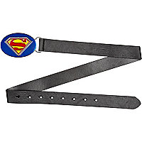 Boys black superman plate belt