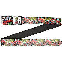 Boys black Marvel comic print belt