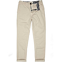 Boys stone chino trousers