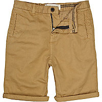Boys brown chino shorts