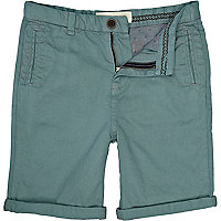 Boys aqua chino shorts