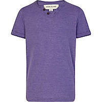Boys purple notch neck t-shirt