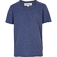 Boys blue voop neck t-shirt