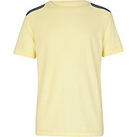 Boys yellow shoulder patch t-shirt