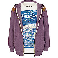 Boys purple marl hoodie and Amsterdam t-shirt