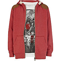 Boys red hoodie and swinging mods t-shirt set