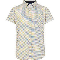 Boys yellow ditsy print shirt