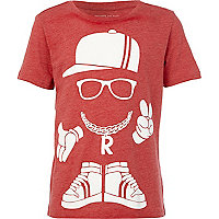 Boys red street man t-shirt