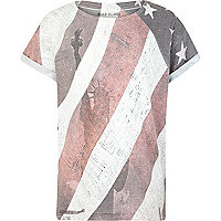 Boys ecru American flag t-shirt