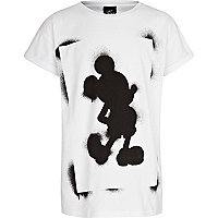 Boys white Mickey Mouse spray paint t-shirt