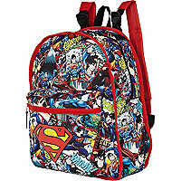 Boys navy reversible superman print rucksack