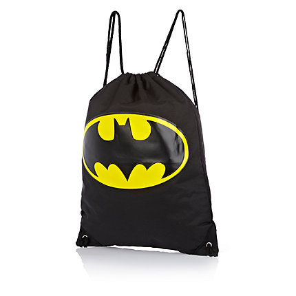 Boys black Batman gym bag
