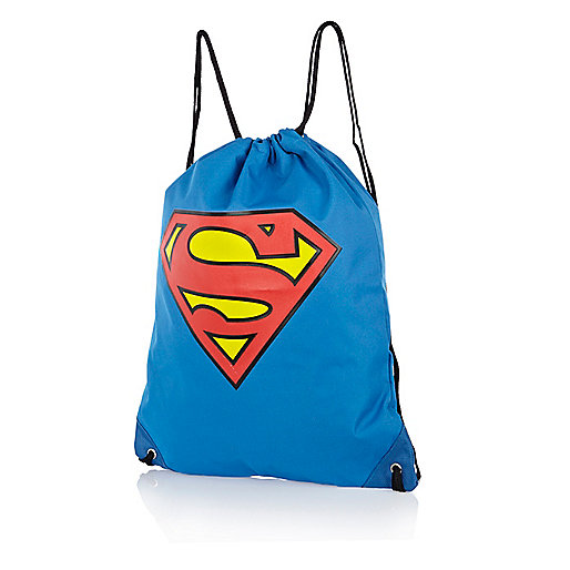 Boys blue Superman gym bag