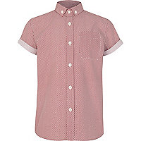 Boys red polka dot shirt