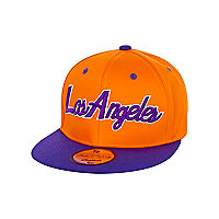 Boys orange Los Angeles trucker hat