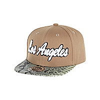 Boys beige Los Angeles trucker hat
