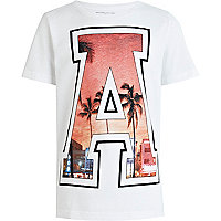 Boys white Hawaii A print t-shirt