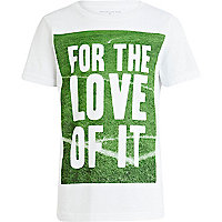 Boys white for the love of it t-shirt