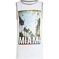 Boys white Miami print vest