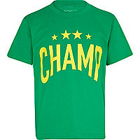 Boys green champ t-shirt