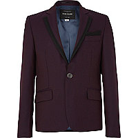 Boys dark red suit jacket