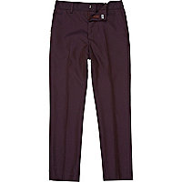 Boys dark red suit trousers