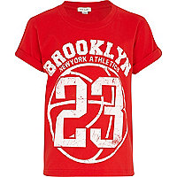 Boys red Brooklyn 23 t-shirt