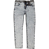 Boys blue two tone skinny jeans