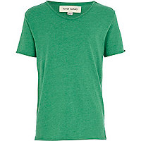 Boys green voop neck t-shirt