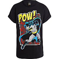 Boys black Batman POW t-shirt