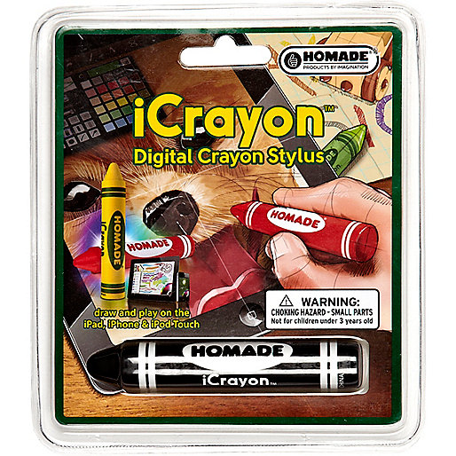 Kids black crayon digital stylus