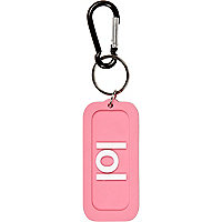 Girls pink LOL flexi keyring