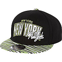 Boys black zebra New York trucker hat