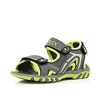 Boys grey and green sporty sandals