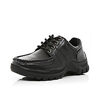 Boys black lace up shoes