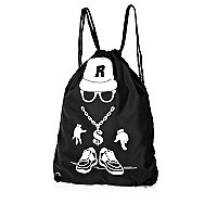 Boys black streetman gym bag