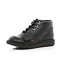 Boys black Kickers boots