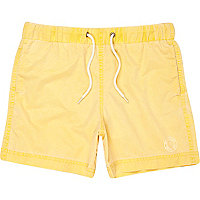 Boys yellow swim shorts