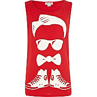 Boys red bow tie man vest
