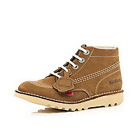 Boys brown Kickers boots