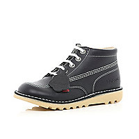 Boys navy Kickers boots