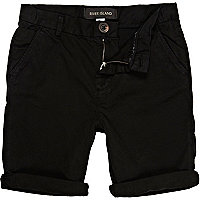 Boys black chino shorts