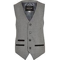 Boys grey suit waistcoat