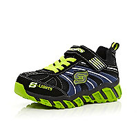 Boys black light up Skechers trainers