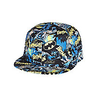 Boys blue all over Batman print trucker hat