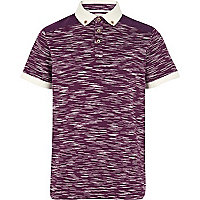 Boys purple space dye polo t-shirt